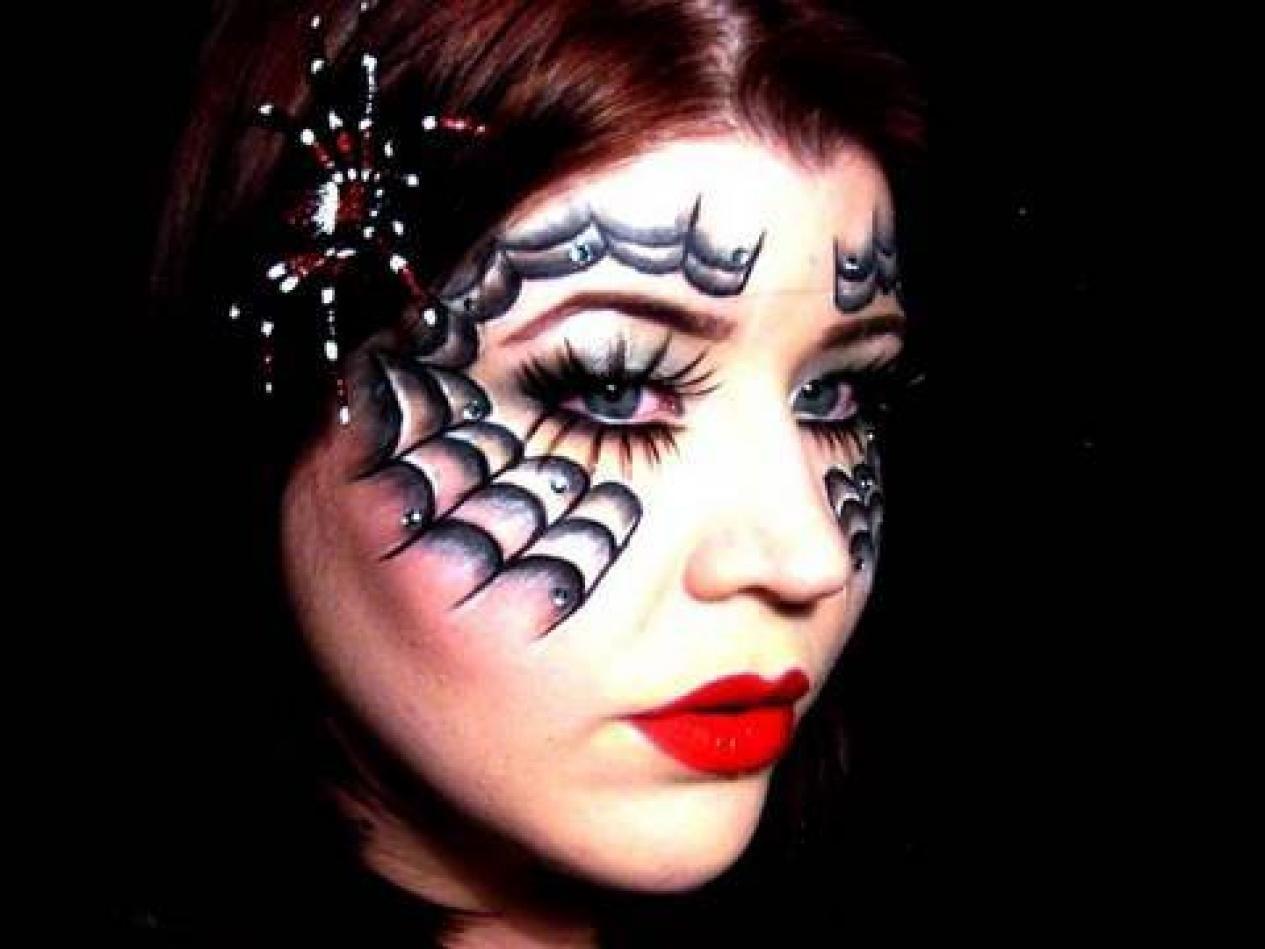 Spiderella Face Paint