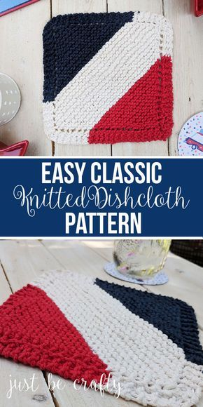 Classic Knitted Dishcloth Pattern Free Pattern By In 2018 Knit