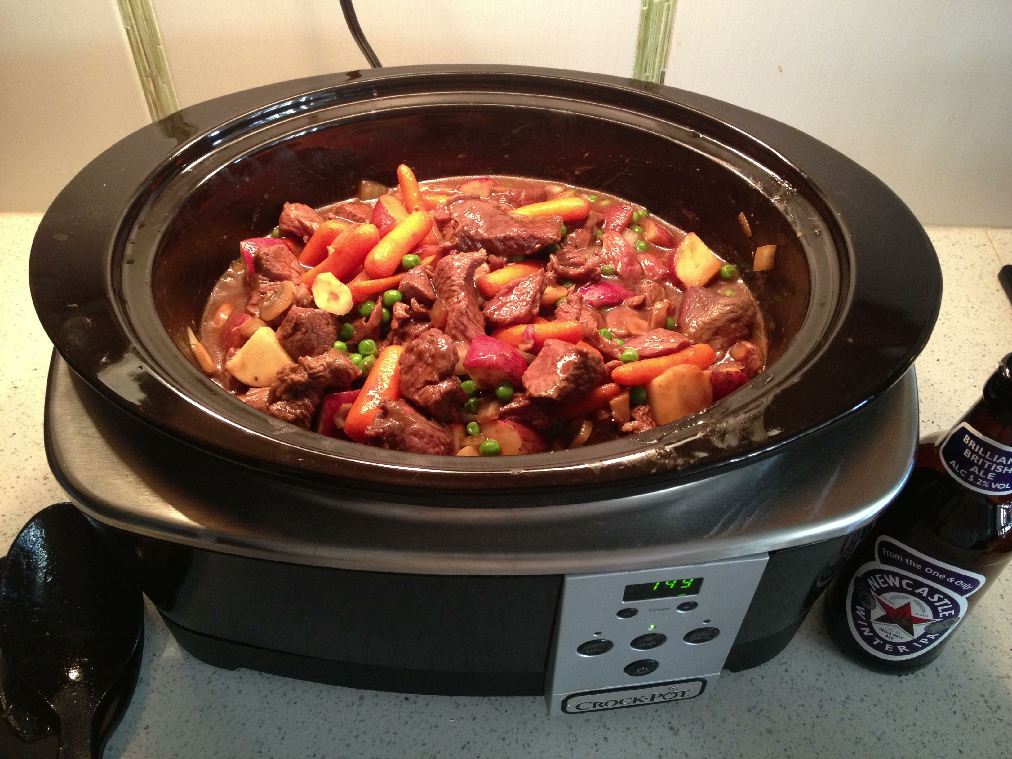 Beer Beef Crock Pot Stew Just Put A Bottle Or Can Of Beer 12oz In The Crock Pot Then Add A Packet Of The Beef S Beef Stew With Beer Recipes Crockpot