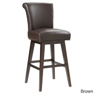Awesome Sunpan Hamlet Bonded Leather Swivel Bar Stool Overstock Andrewgaddart Wooden Chair Designs For Living Room Andrewgaddartcom