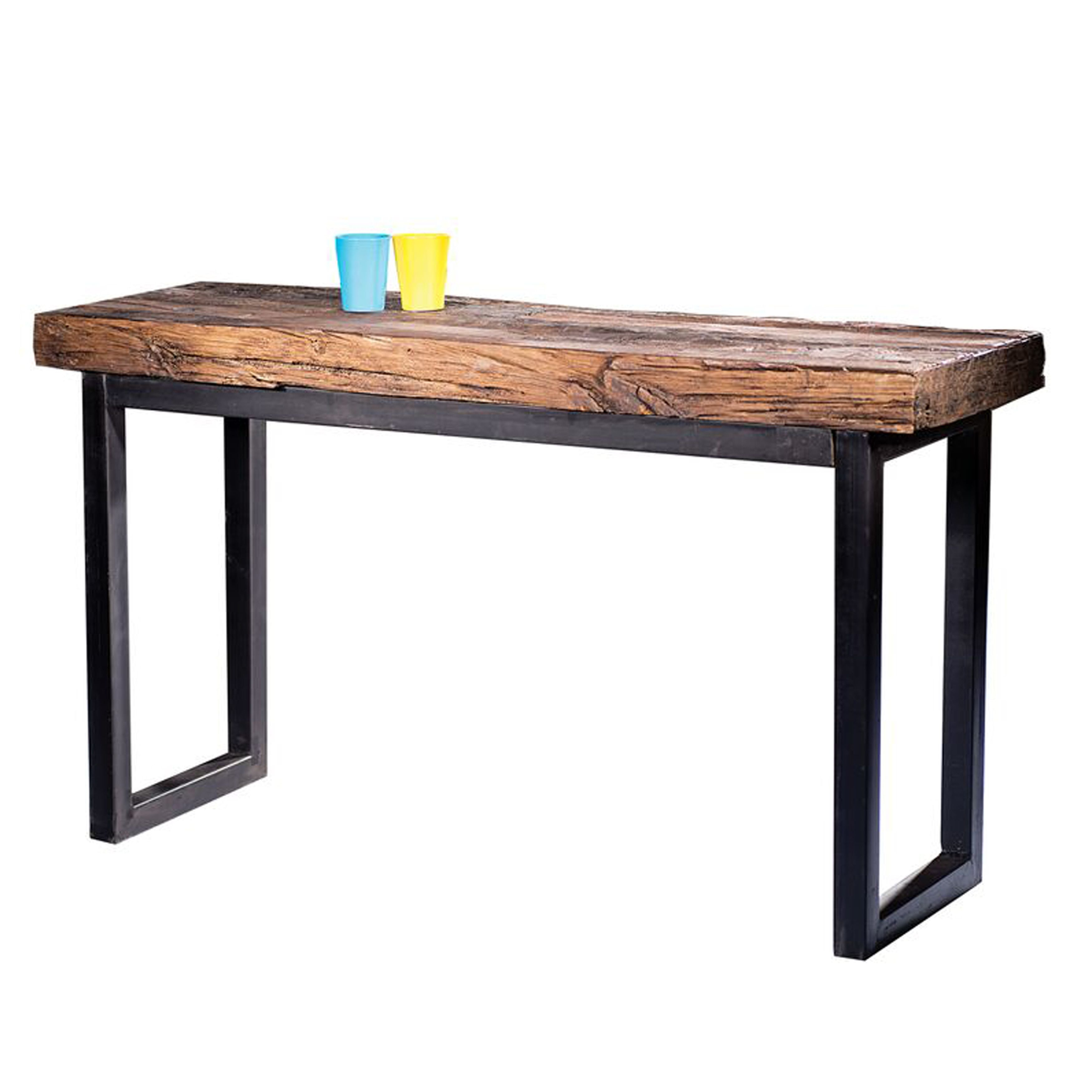Living Room Furniture Free Shipping Arbor Reclaimed Wood And Cast Iron Console Table By Caribou Dane