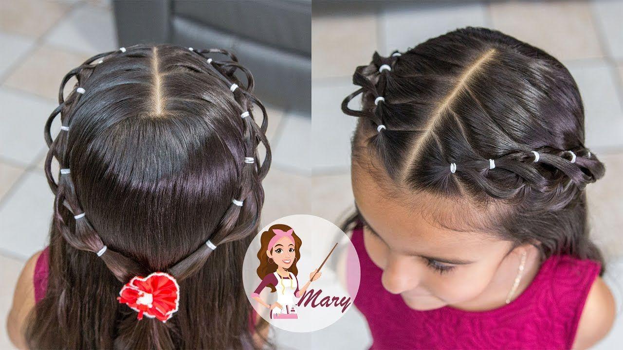 Peinado Con Ligas Para Ninas Cabello Corto Y Largo Peinado Facil Pa Hair Styles Little Girl Hairstyles Girl Hairstyles