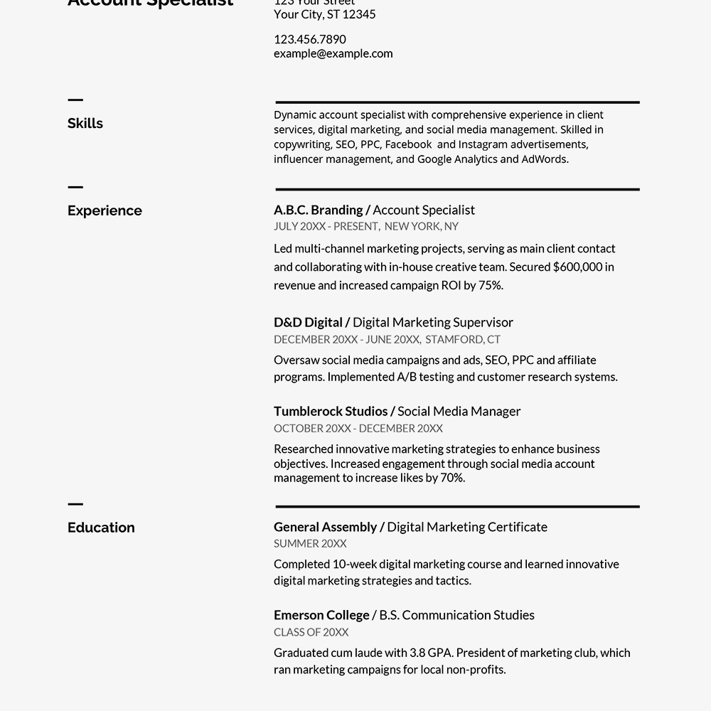 Resume Templates Compatible With Google Docs (3
