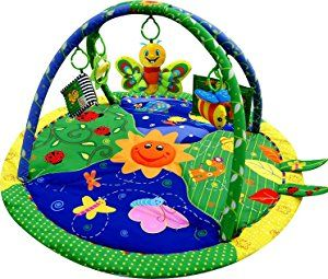Just4baby Light U0026 Musical Garden Bug Firefly Baby Play Mat Playmat Activity  Gym Toy