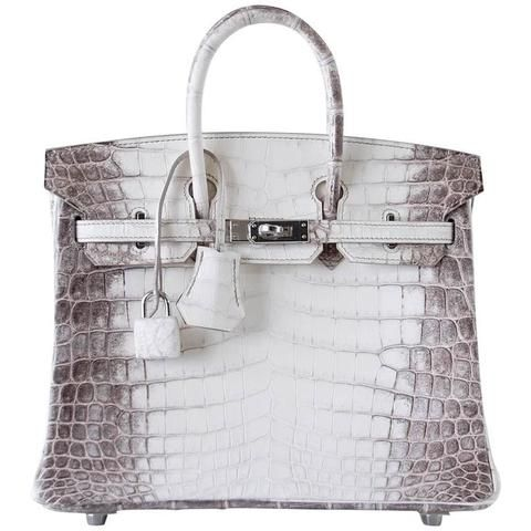 d30b99c65a0c Guaranteed authentic remarkable and rare HERMES BIRKIN 25 Blanc Himalaya  Crocodile.Exquisite coloration and scales.Fresh with.