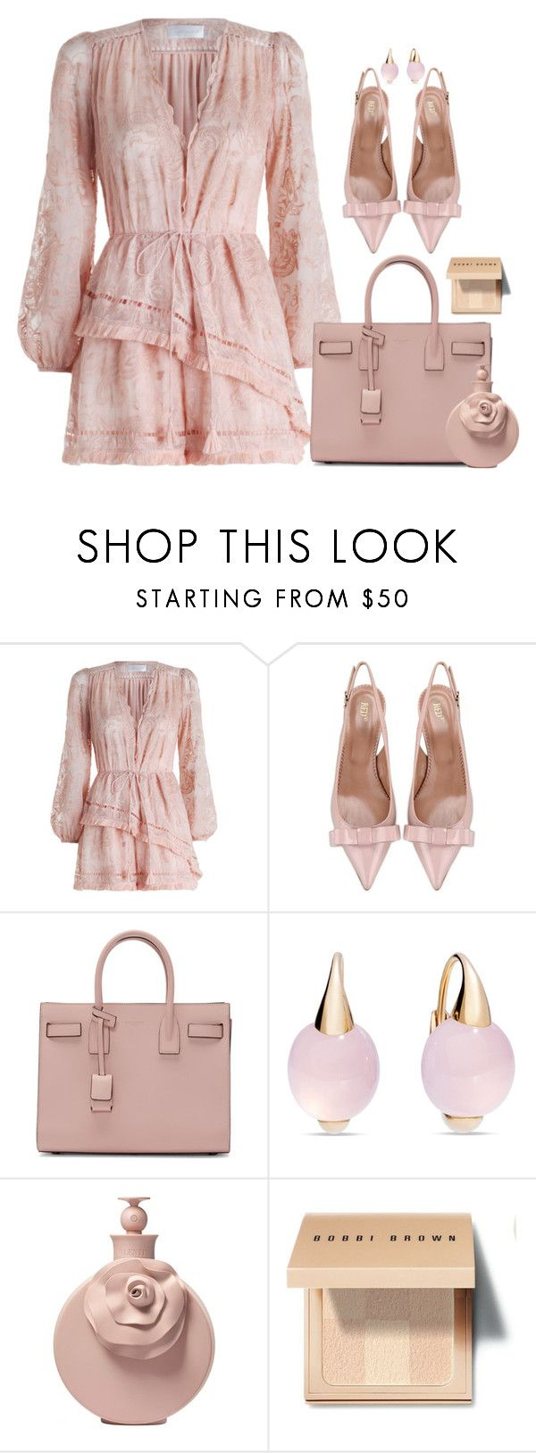 """""""Sweet Play"""" by lisa-holt ❤ liked on Polyvore featuring Zimmermann, RED Valentino, Yves Saint Laurent, Pomellato, Valentino and Bobbi Brown Cosmetics"""
