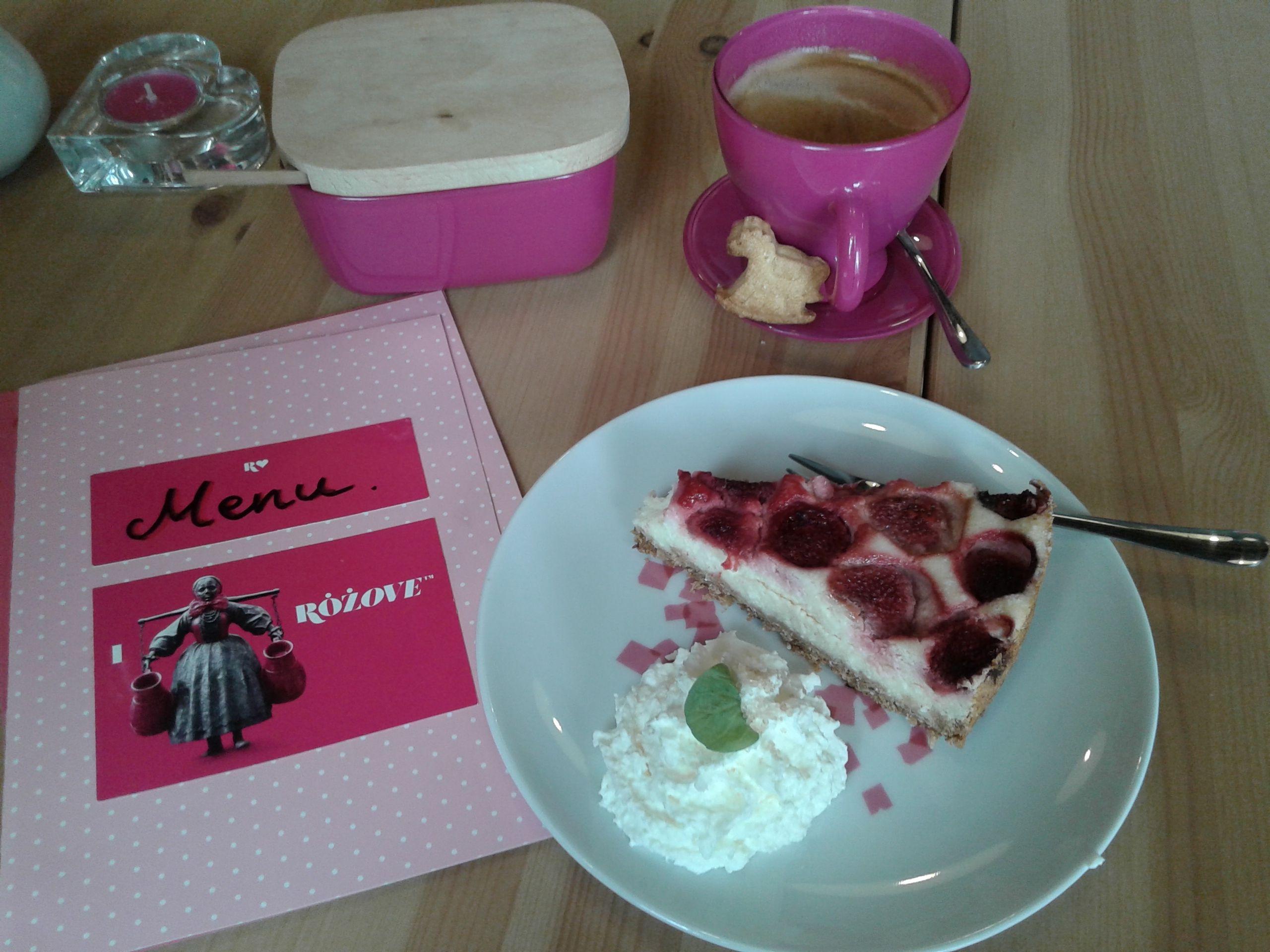 Kawa i sernik (Różove)   The taste of Poznań   Pinterest