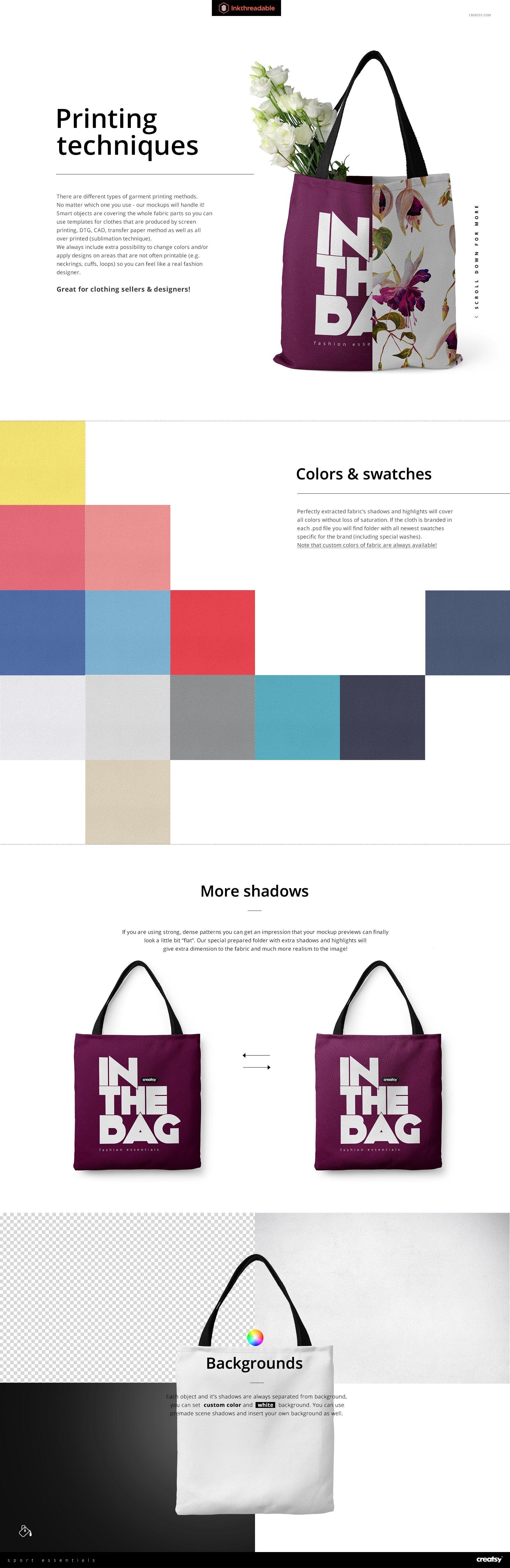 Download Polyester Tote Bag Mockup Set Bag Mockup Tote Bag Bags