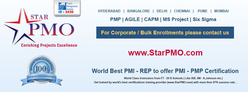 StarPMO, the premier project management consultancy and project management certification preparation portal. StarPMO  was established by several Ivy League alumni. Our unique strength is the high quality of Consultants and trainers, www.starpmo.com/pmi-pmp/pune.php