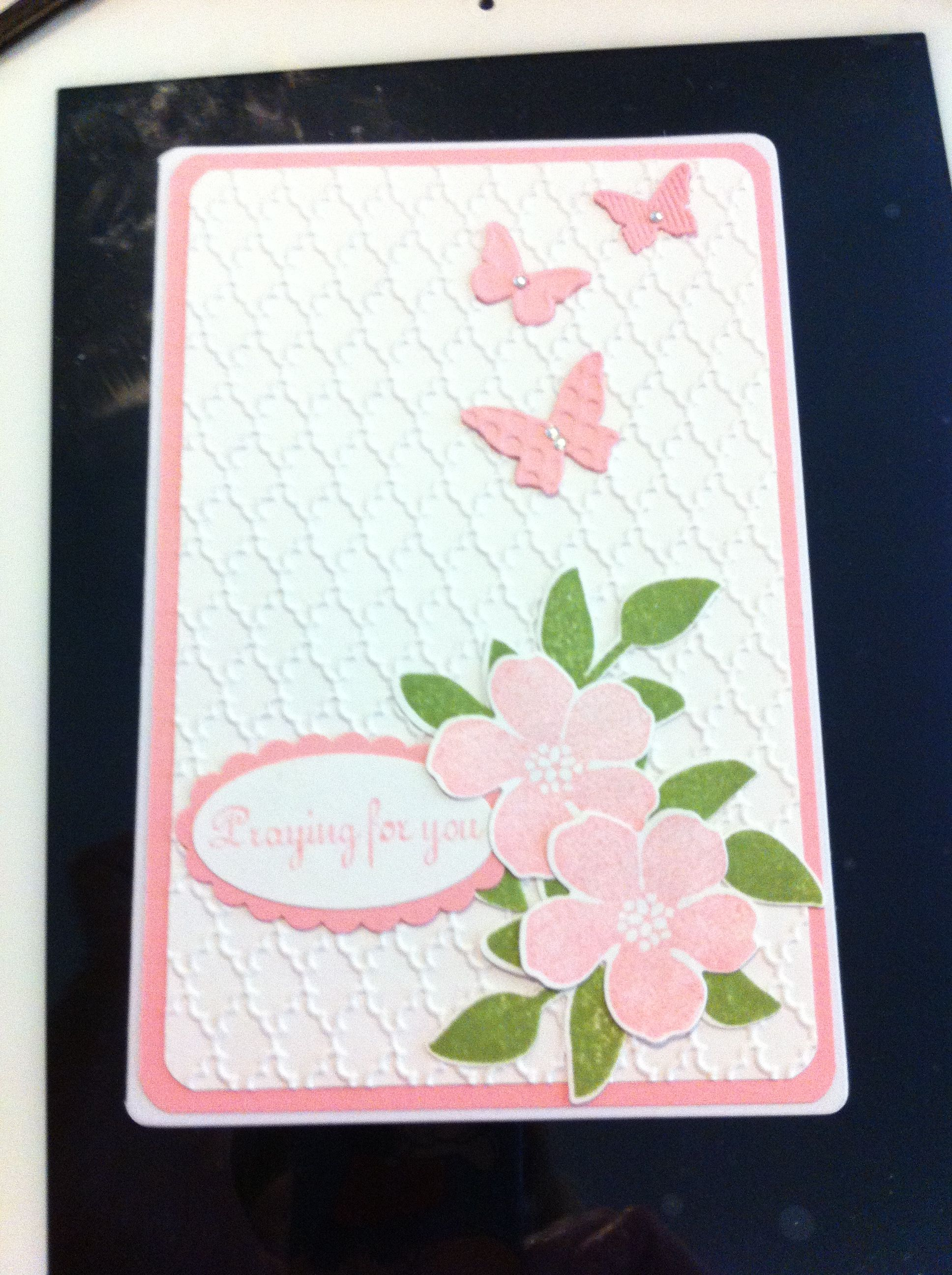Stampin up secret garden stamp set and framelits in pretty in pink