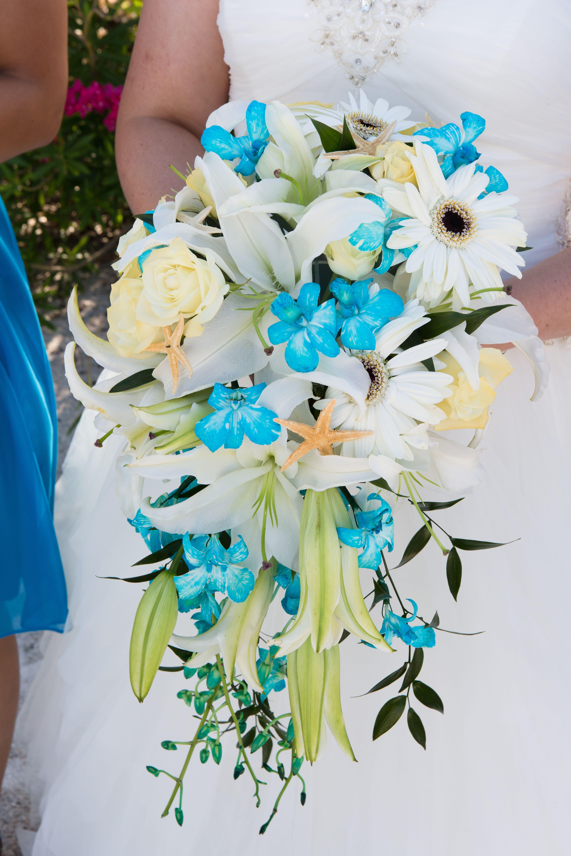 Grand Plaza St Pete Beach Fl Beach Wedding Destination Wedding Bridal Bouquet Turquoise And White Cara Deh Bridal Bouquet Cascade Bouquet Wedding Expert