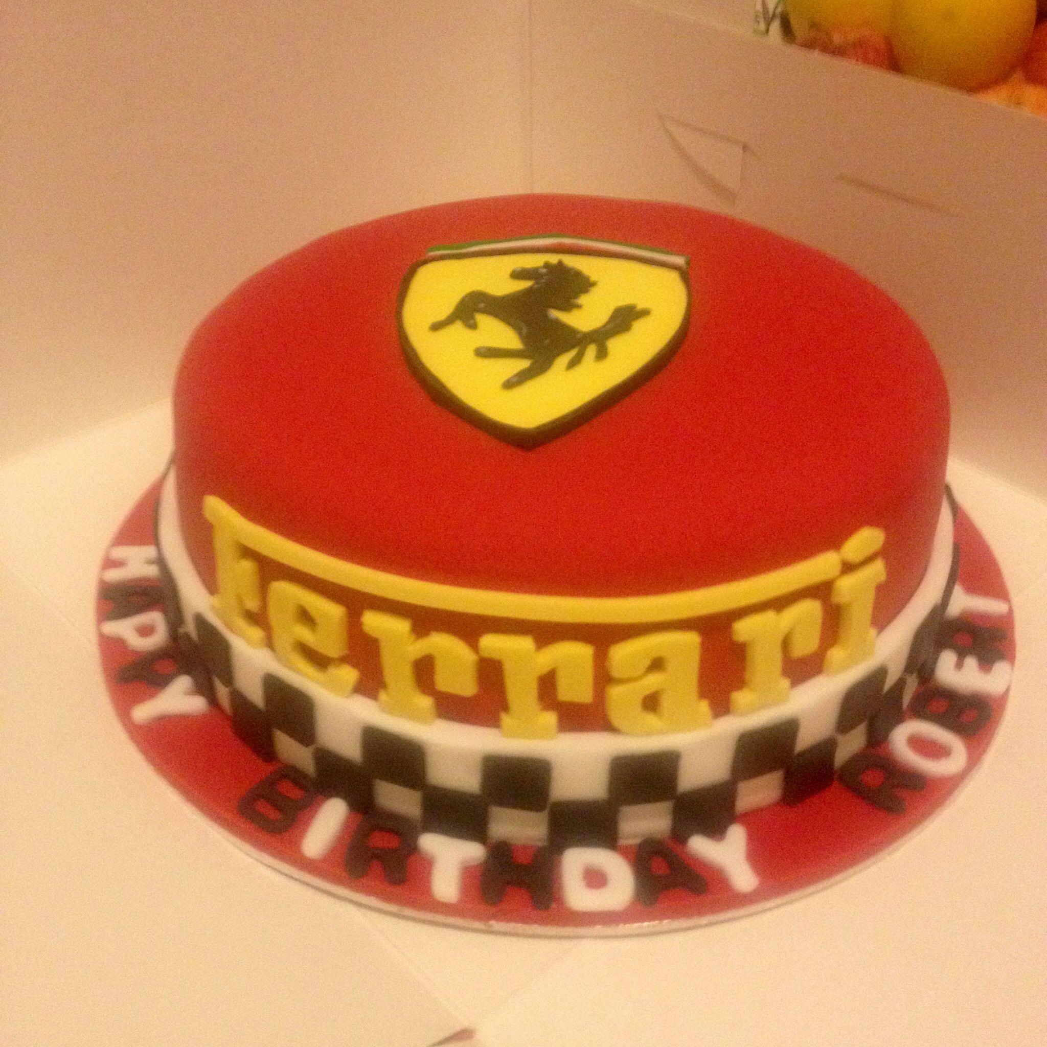 Ferrari Cake By Tessa Glasgow Mario 10de Bday Party Idees
