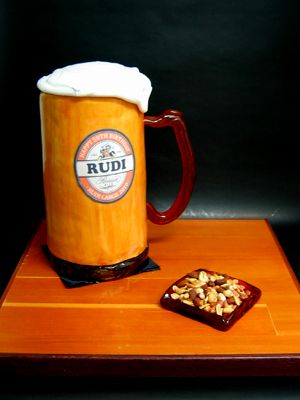 Rudi's Beer Stein Cake - www.PassionForCakes.com