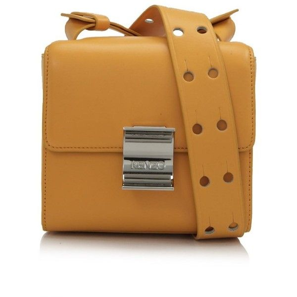 Kenzo Clasp Bag 380 Liked On Polyvore Featuring Bags Handbags Yellow Kiss Lock Purse Locking Real Leather Purses And