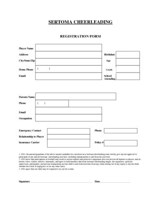 Cheerleading Application Form Template  Sertoma Cheerleading