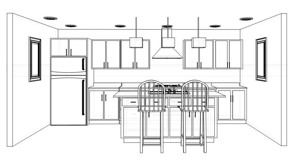 Kitchen Layout Ideas 2013 L U Shape The Corridor One Wall One
