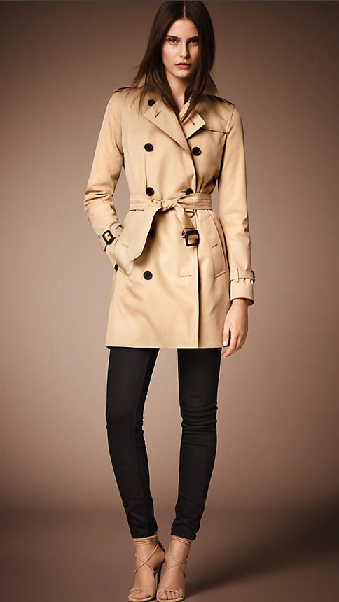 652b2241d1292f The Kensington – Mid-length Trench Coat in Honey - Women | Apparel ...
