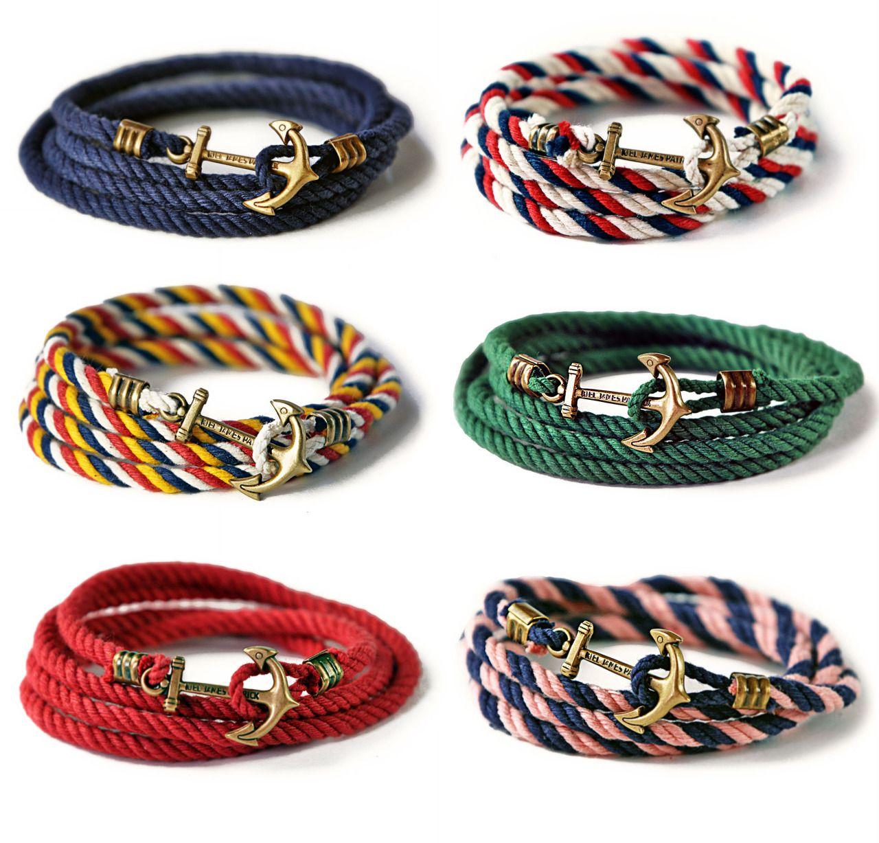 """Red Cross black cord surfer sailor bracelet wrist band adjustable 4.5/"""" 10/"""""""