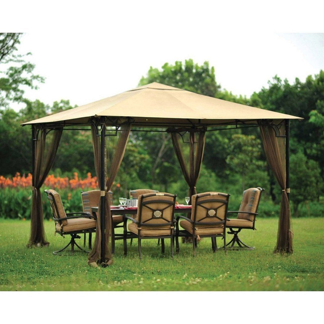 Living Accents x Gazebo Netting (gazebo sold separately) Living Accents Gazebo Mosquito Netting (Netting Only)  sc 1 st  Pinterest & Pop up garden gazebo 4 side walls 3194 p | Pop Up Gazebos ...