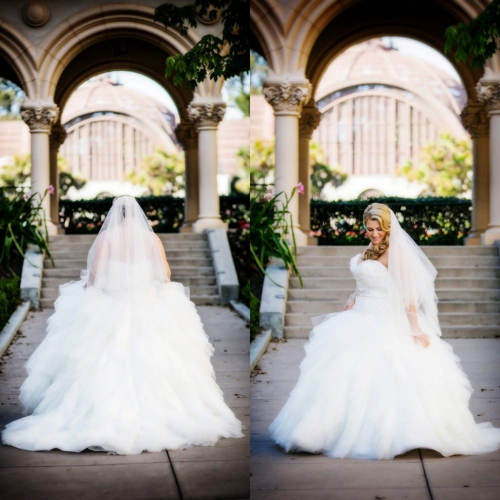 I love her wedding dress!!		{Real Plus Size Wedding} Blush and Ivory San Diego Wedding | Tim Otto Photography