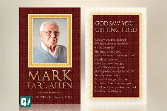 Legacy Memorial Prayer Card Word Publisher Template Size Etsy Prayer Cards Funeral Thank You Cards Funeral Prayers