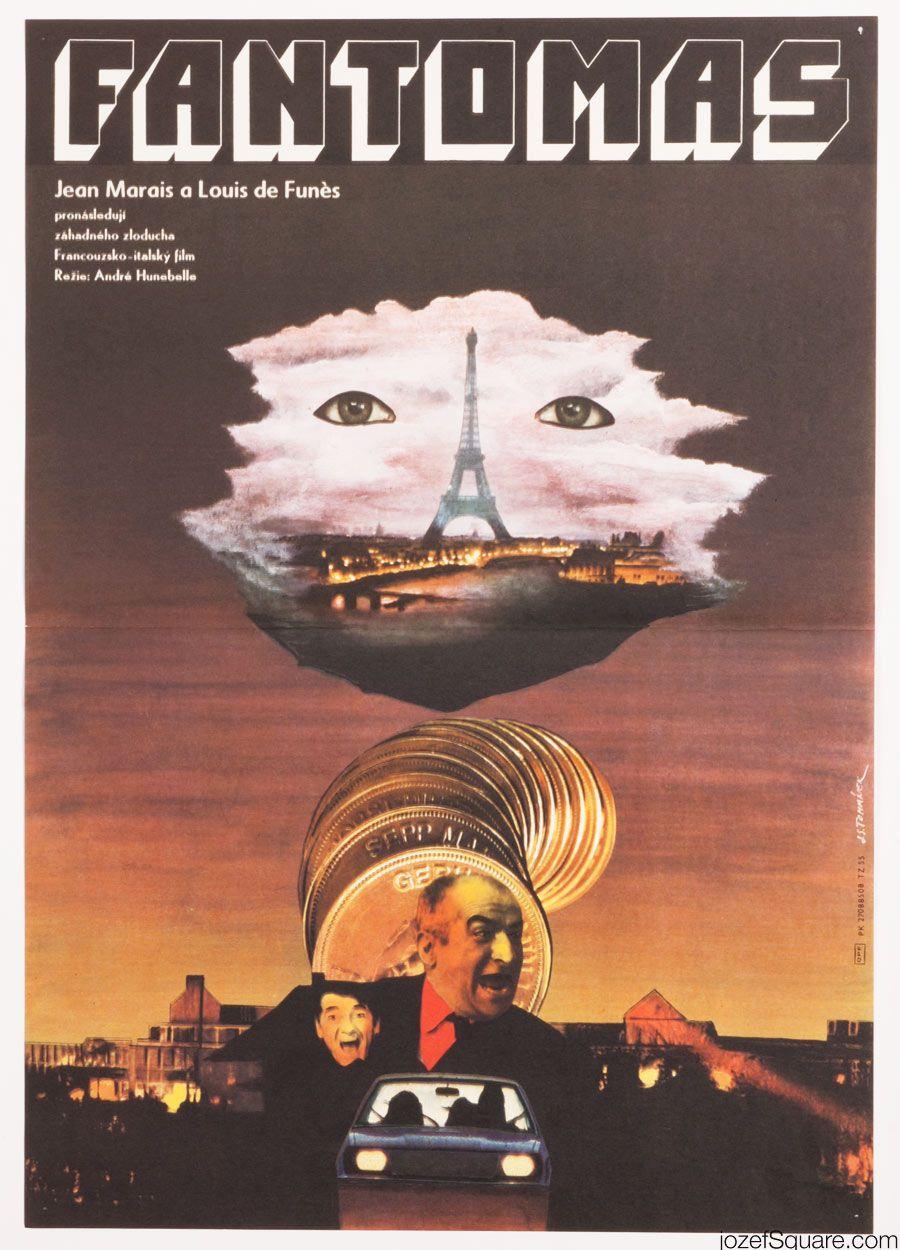 Premium-Poster Louis de Funes als Fantomas