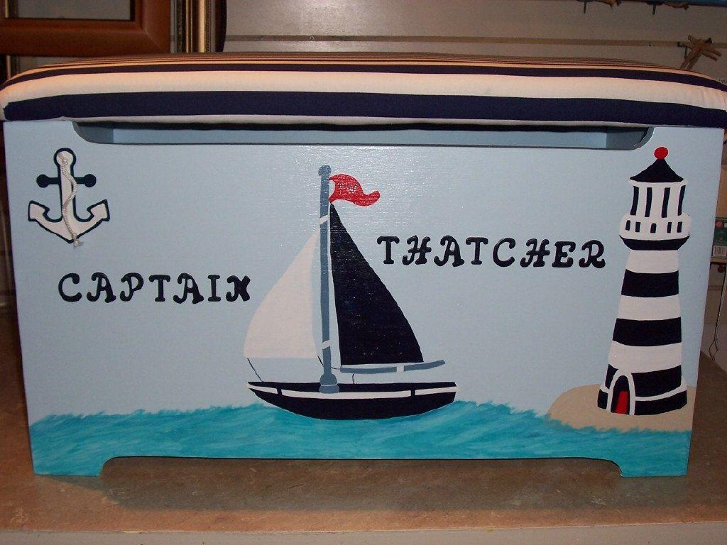 Nautical Themed Toy Box. via Etsy.
