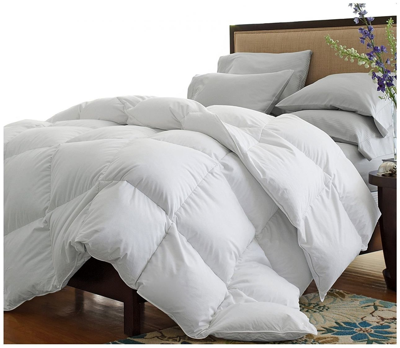 Tröster Big Puffy Weiße Bettdecke Wärmsten Down Alternative Tröster Beste Hypoallergene Bettdecke Dunkelgrau Tröster Comforter Sets Comforters California King