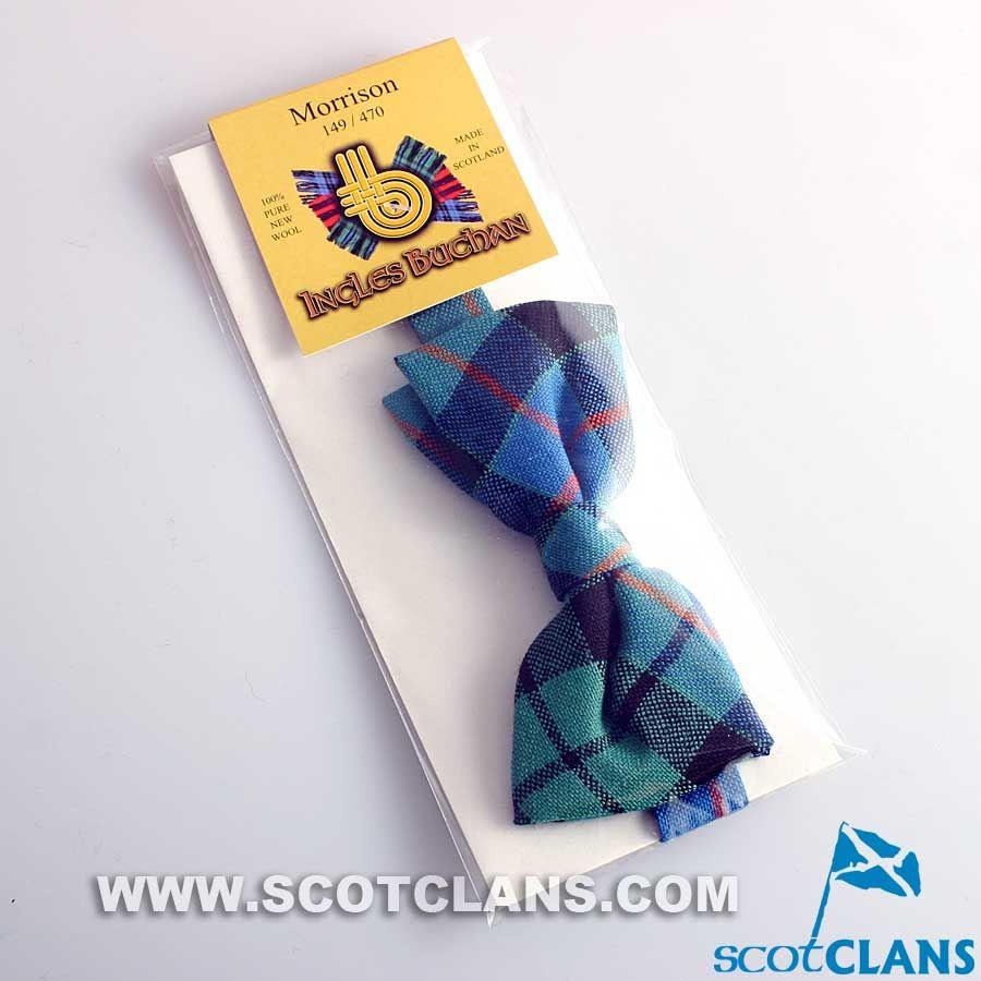 Tartan Tie Clan Morrison Scottish Wool Plaid