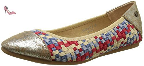 Blair, Ballerines Bout Fermé Femme, Multicolore (Multicolor Denim), 39 EUKaporal