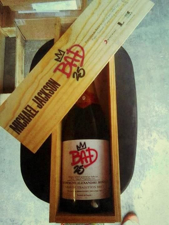 Michael Jackson Bad 25 Wine. Want this!--my birthday is in April! ;) - Keri