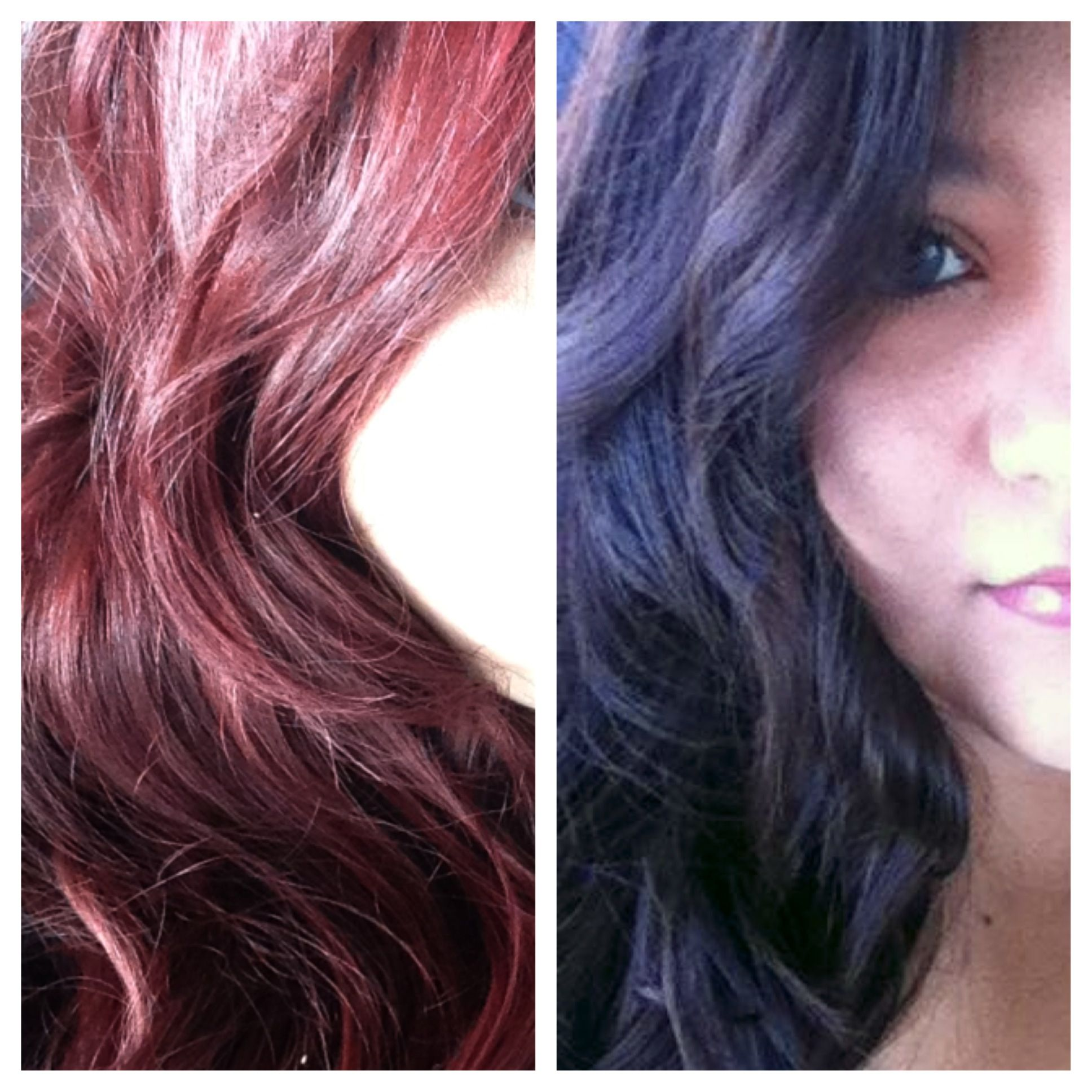 Dark Brown To Red Hair Using Loreal Hicolor In Magenta Hair