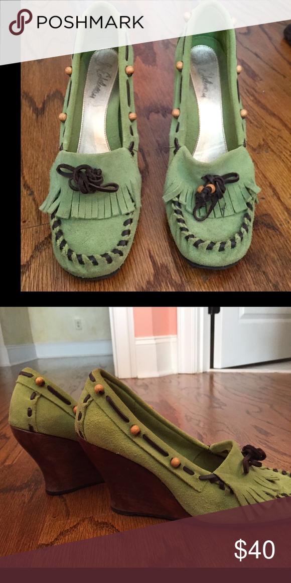 70b2f568db9d3 Sam Edelman green loafers Sam Edelman suede green loafers Sam Edelman Shoes  Wedges