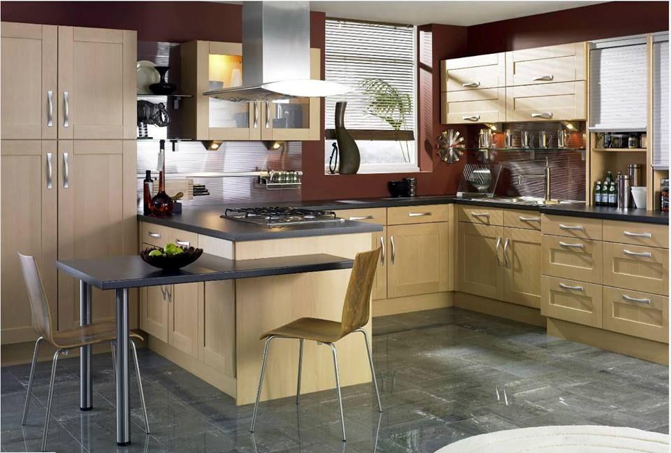 Best Burgundy Walls Add Warmth To A Contemporary Kitchen 640 x 480