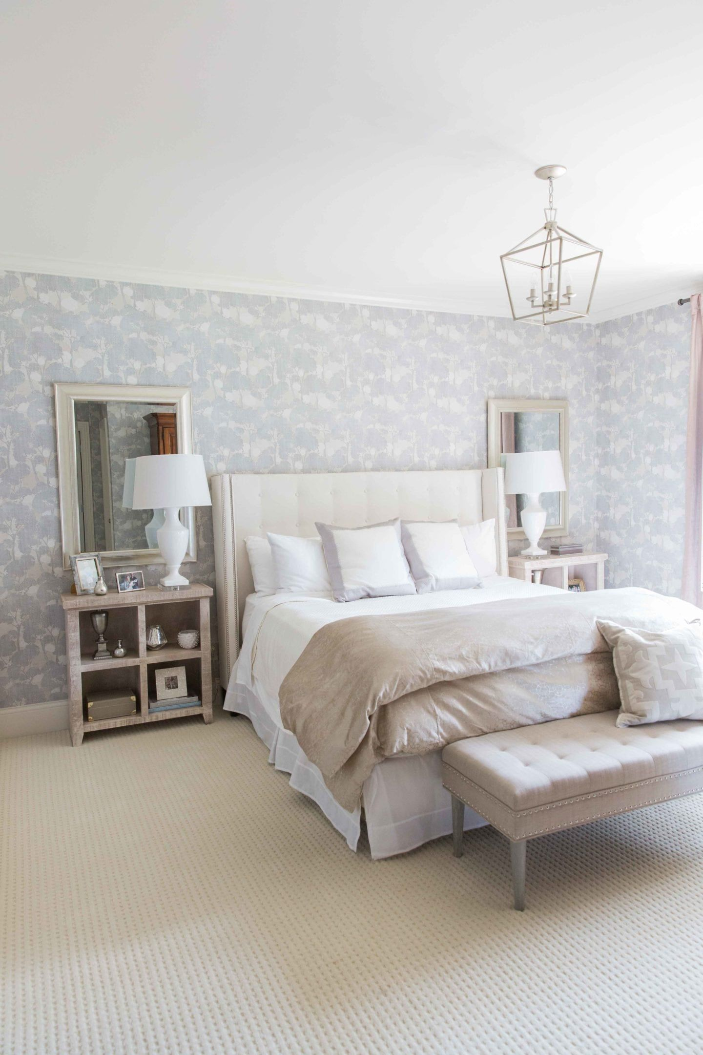 Our Bedroom Makeover using Calico Pattern Wallpaper WOW