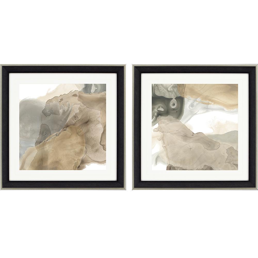 Paragon Tectonic Drift Ii Pk 2 Dark Wood Abstract Painting Drifting