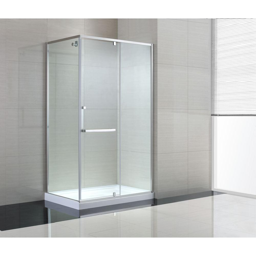 Schon Brooklyn 48 In X 79 In Semi Framed Corner Shower Enclosure
