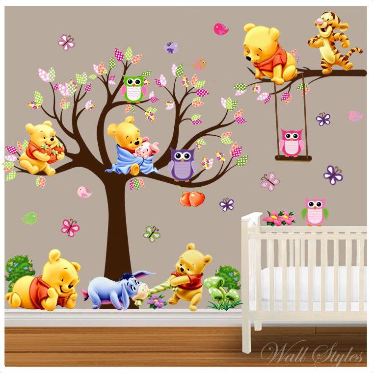 disney Winnie the pooh WALL STICKER NURSERY//KIDS//GIRLS//BOYS ROOM