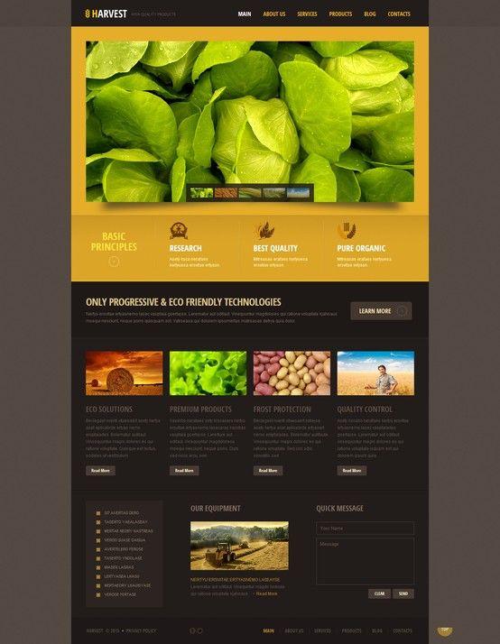 Tema wordpress naranja negro para sitios web de agricultura ...