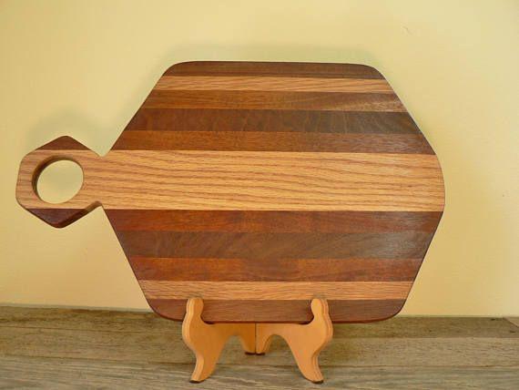 Wood cutting board strip laminated hardwood