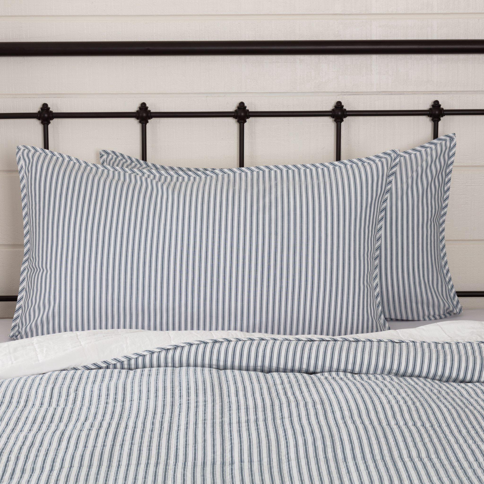 Sawyer Mill Blue Ticking Stripe King Sham 21x37 Ticking Stripe Ticking Stripe Bedding Farmhouse Bedding