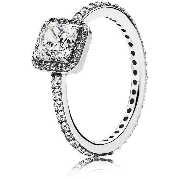 Pandora Women's 925 Sterling Silver Cubic Zirconia Crystal Ring vkYTH59