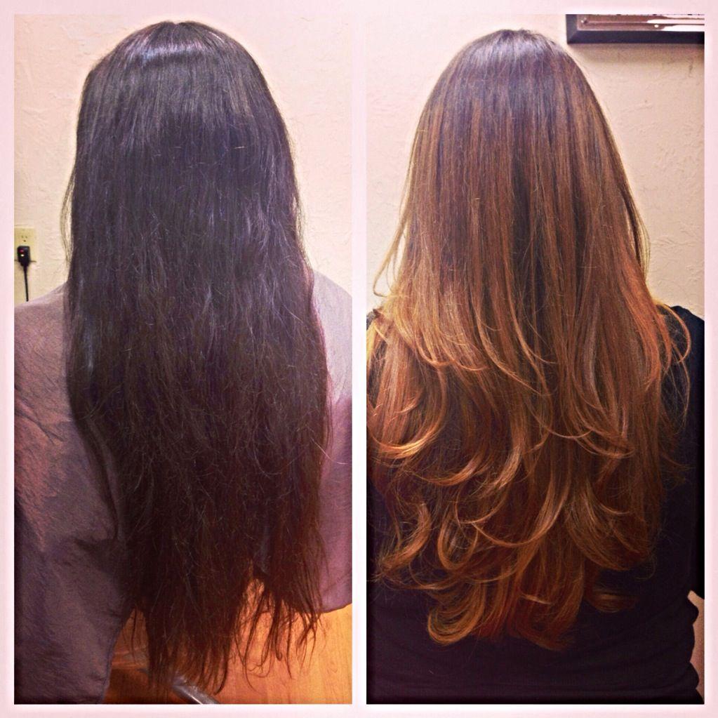 From Virgin To Ombre Using Schwarzkopf Igora Royal Metallics 6 32 L 44 And Blondeme 9 Lightener Pastel Purple Hair Light Copper Hair Gorgeous Hair