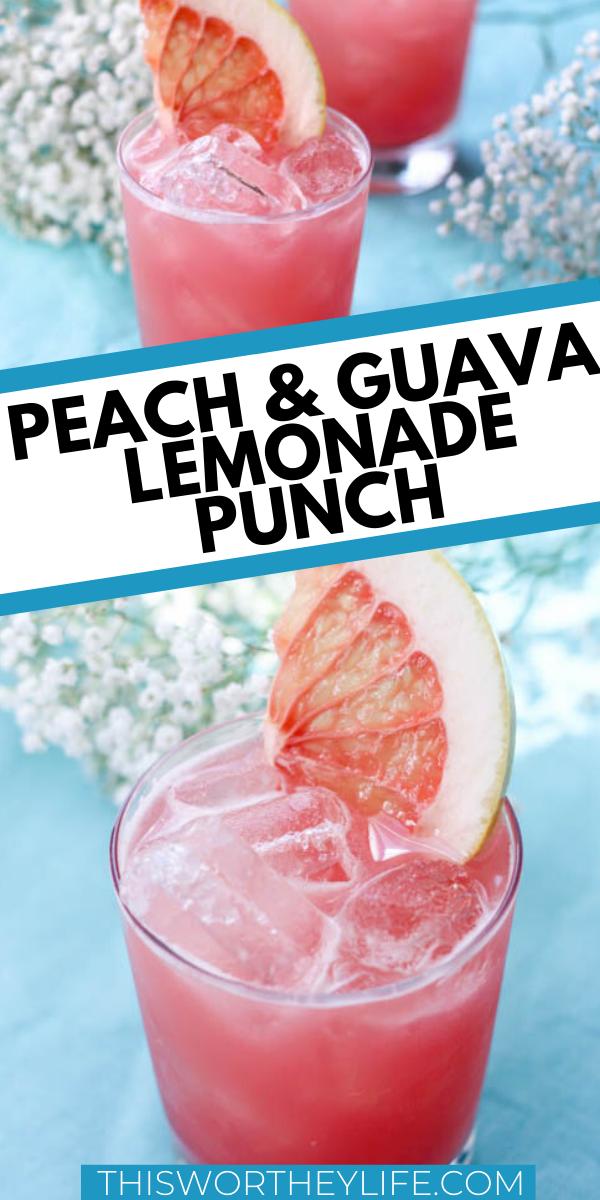 Peach & Guava Lemonade Punch Cocktail