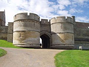 Rockingham Castle is a former royal castle and hunting lodge in Rockingham Forest a mile to the north of Corby, Northamptonshire.