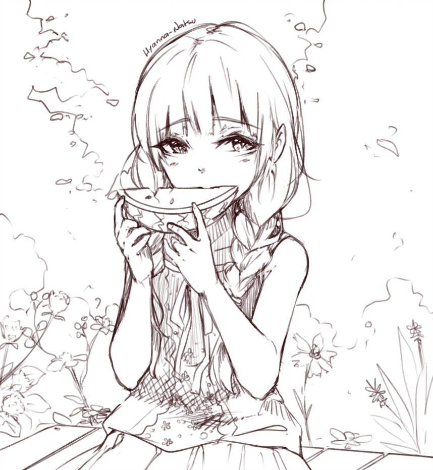 Summer Day By Https Www Deviantart Com Hyan Doodles On Deviantart Kawaii Drawings Anime Drawings Drawings