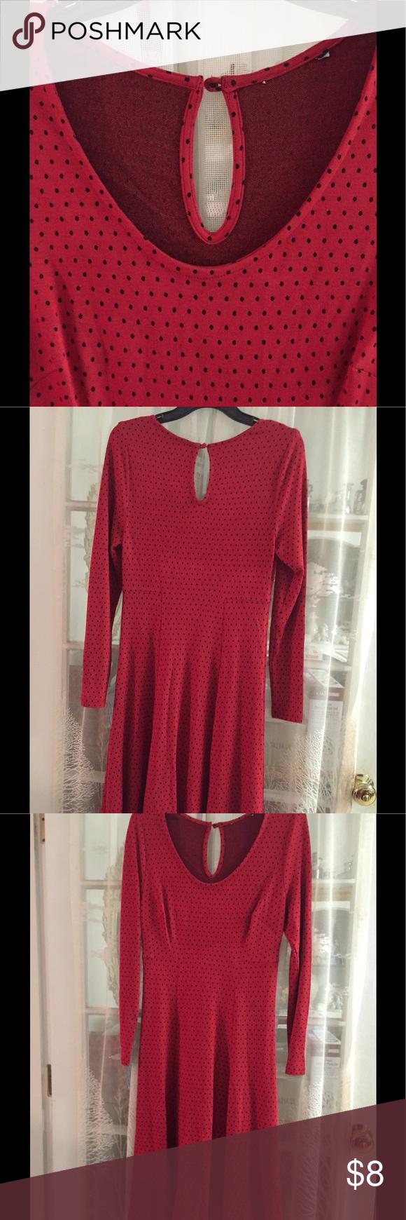 Red black polka dot dress my posh picks pinterest black polka