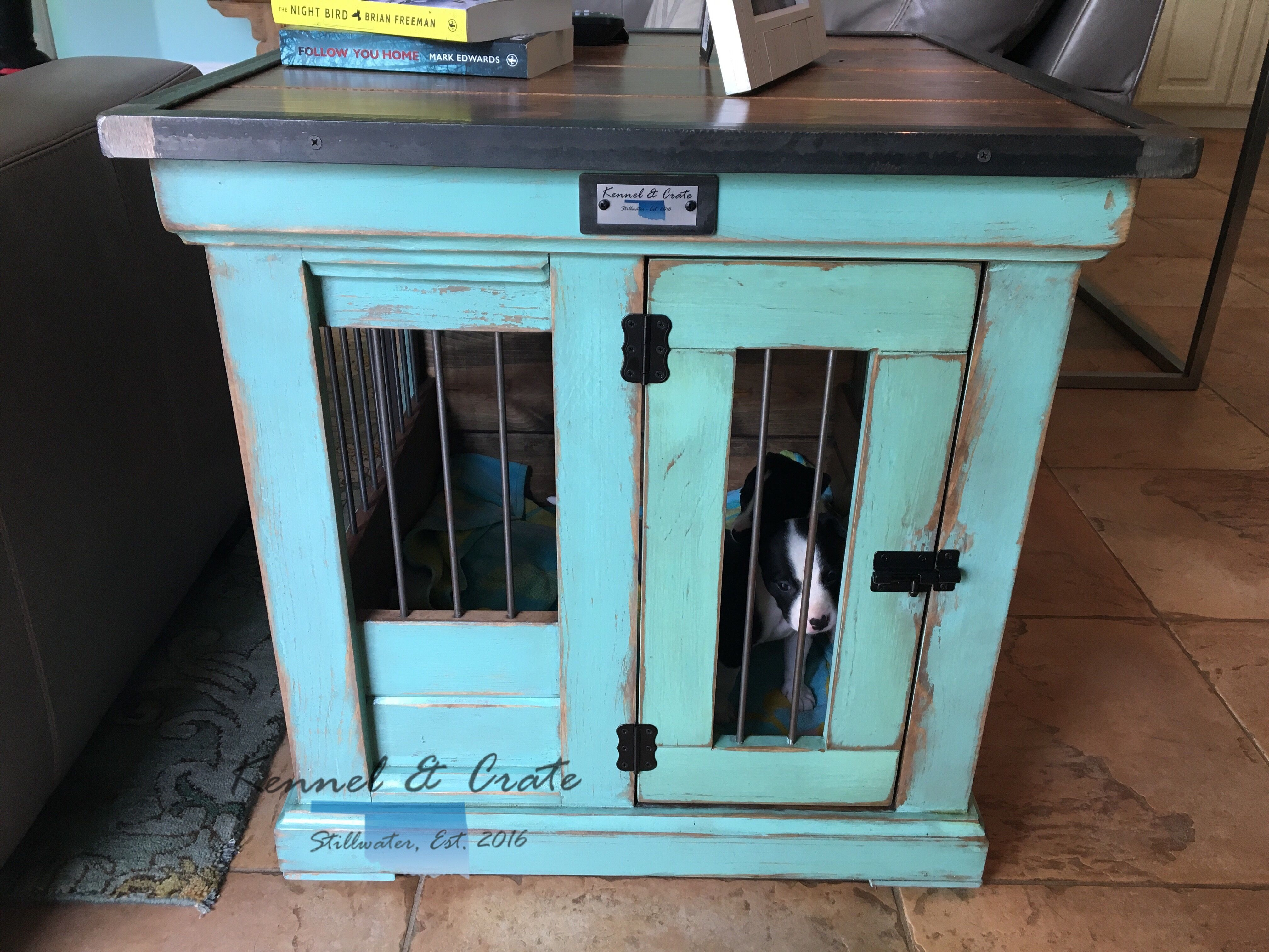 Designer indoor dog kennels! Replace your wire dog crate with a ...