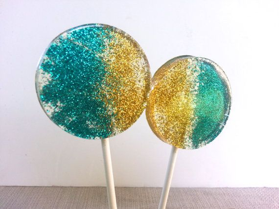Teal and Gold Wedding Favors Hard Candy by SweetCarolineConfect, $12.00