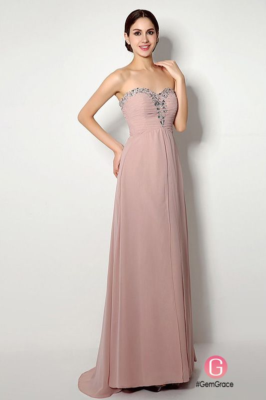 Sheath Sweetheart Floor-length Bridesmaid Dress #C20249 $110 ...